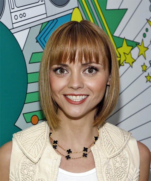 Christina Ricci Medium Straight Casual