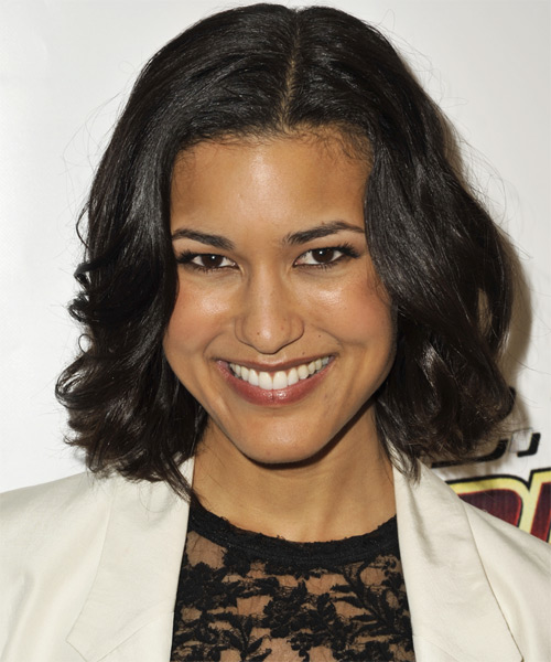 Julia Jones - Formal Medium Wavy Hairstyle