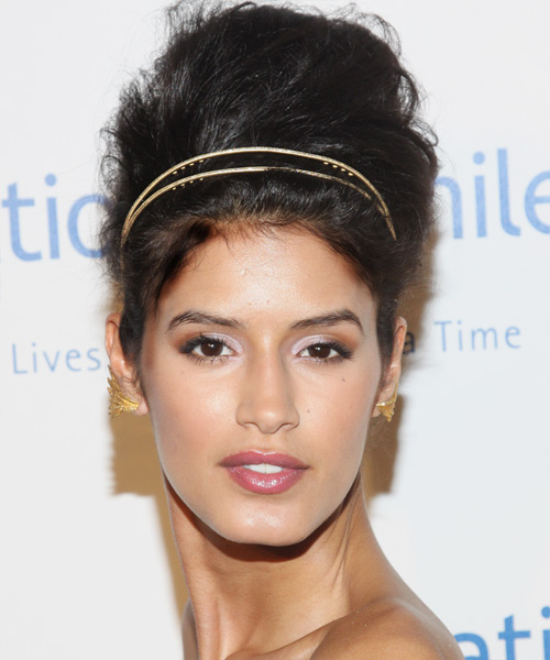 Jaslene Gonzalez - Formal Updo Long Curly Hairstyle