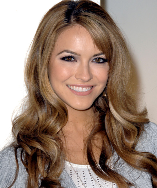 Chrishell Stause Long Wavy Formal Hairstyle - Medium Brunette (Chestnut) Hair Color
