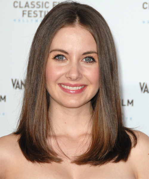 Alison Brie Long Straight Formal Hairstyle