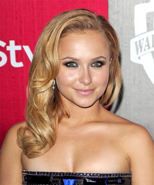 Hayden Panettiere - Formal Long Wavy Hairstyle