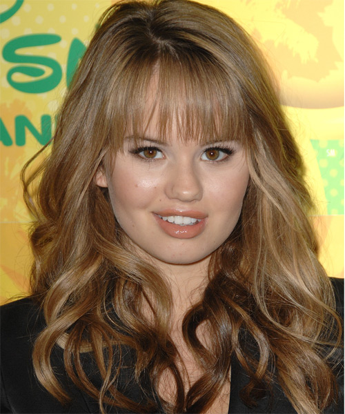 Debby Ryan Long Wavy Formal Hairstyle - Light Brunette (Chestnut) Hair Color