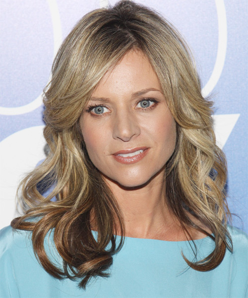 Jessalyn Gilsig Long Wavy Formal Hairstyle