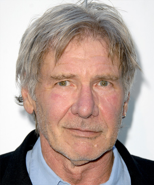 Harrison Ford Short Straight Hairstyle - Medium Grey