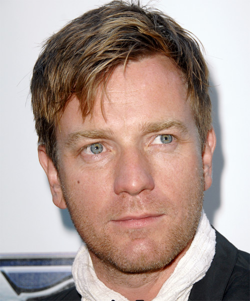 Ewan McGregor Short Straight Hairstyle - Medium Brunette (Golden)