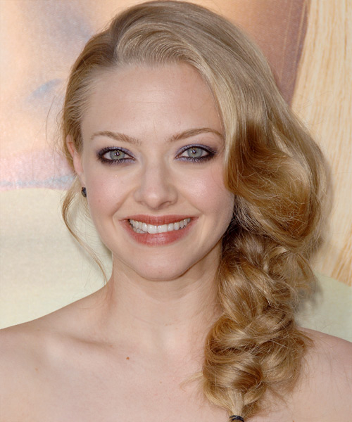 Amanda Seyfried Curly Formal Updo Hairstyle