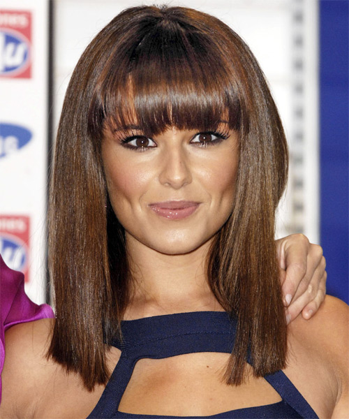 Cheryl Cole Medium Straight Hairstyle