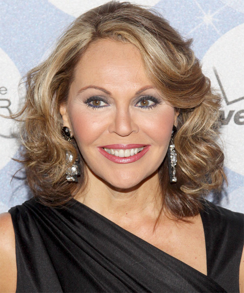Maria Elena Salinas Medium Wavy Formal Hairstyle