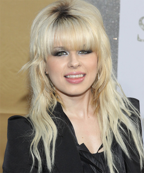 Orianthi Long Wavy Hairstyle