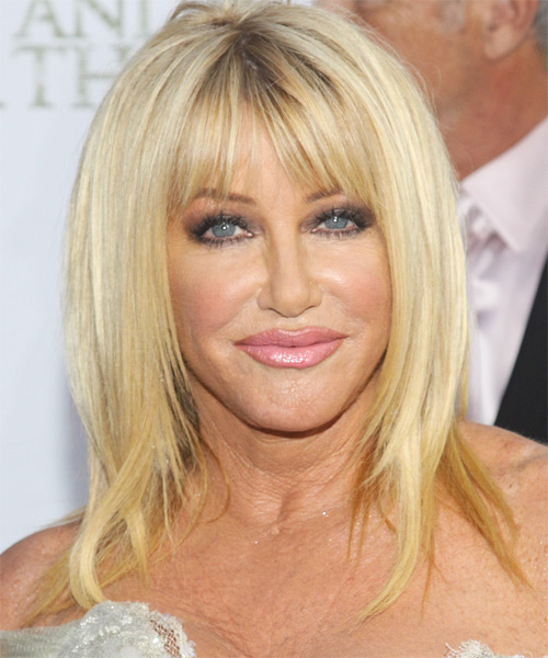 Suzanne Somers Long Straight Hairstyle