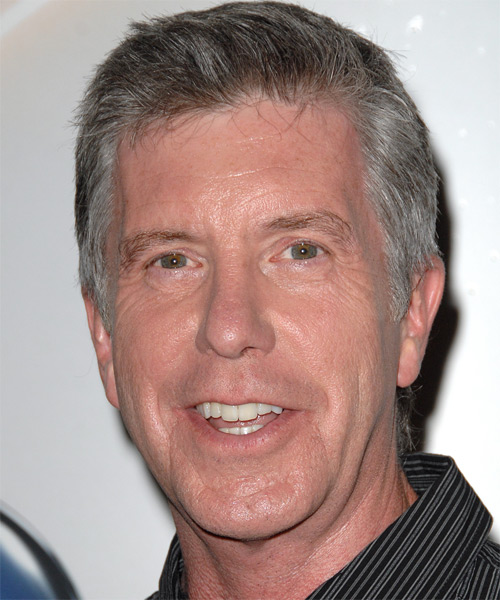 Tom Bergeron Short Straight Hairstyle