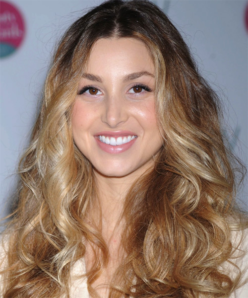 Whitney Port Long Wavy Casual Hairstyle - Medium Blonde Hair Color