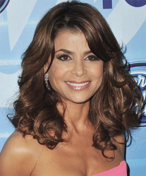 Paula Abdul Long Wavy Hairstyle