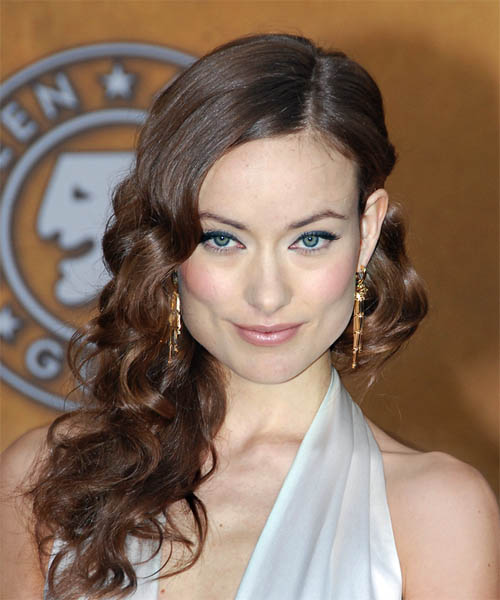 Olivia Wilde Long Curly Formal Hairstyle