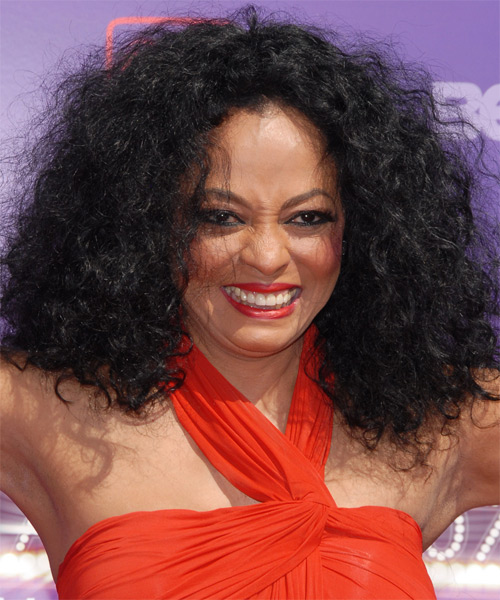 Diana Ross Long Curly Casual Hairstyle