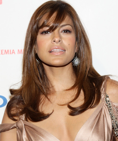 Eva Mendes Long Straight Hairstyle