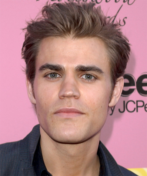 Paul Wesley Short Straight Hairstyle - Medium Brunette (Chestnut)
