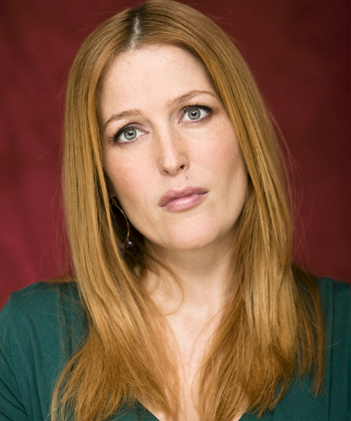 Gillian Anderson Long Straight Hairstyle
