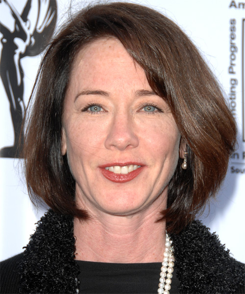 Ann Cusack Medium Straight Formal Hairstyle