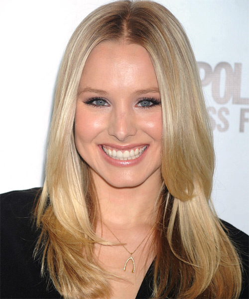 Kristen Bell Long Straight Hairstyle - Light Blonde (Golden)