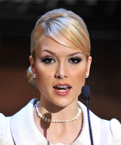 Tara Conner Formal Straight Updo Hairstyle