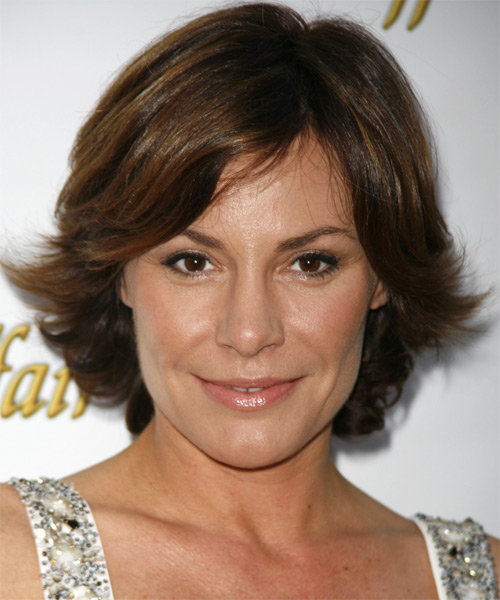 Countess LuAnn de Lesseps Medium Straight Hairstyle