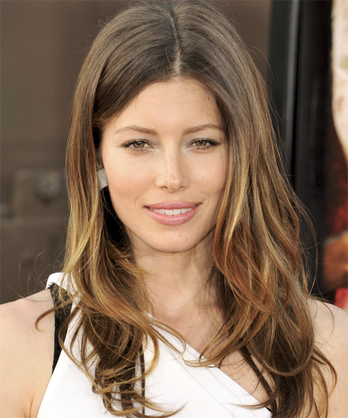 Jessica Biel - Casual Long Straight Hairstyle