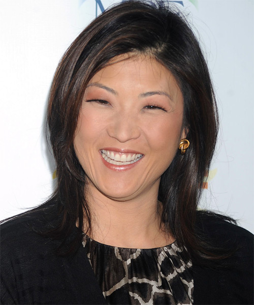 Juju Chang Long Straight Casual Hairstyle