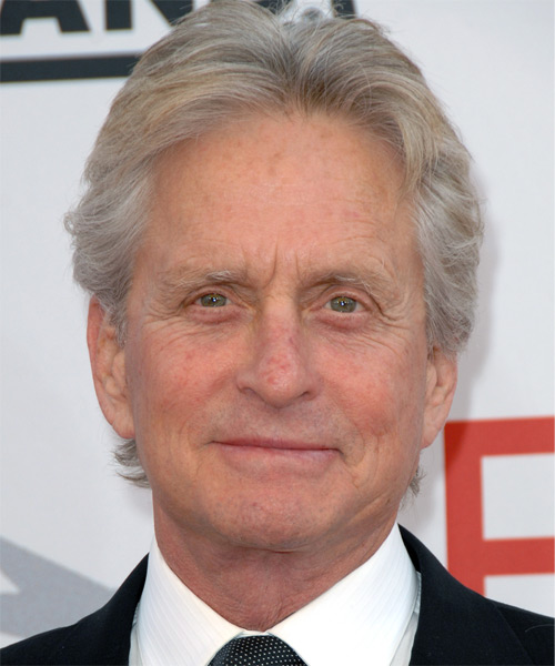 Michael Douglas Short Straight Formal Hairstyle
