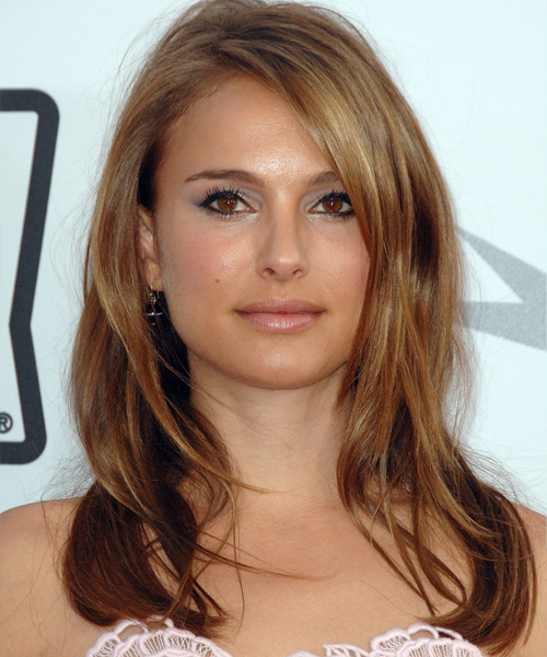 Natalie Portman - Straight  Long Straight Hairstyle