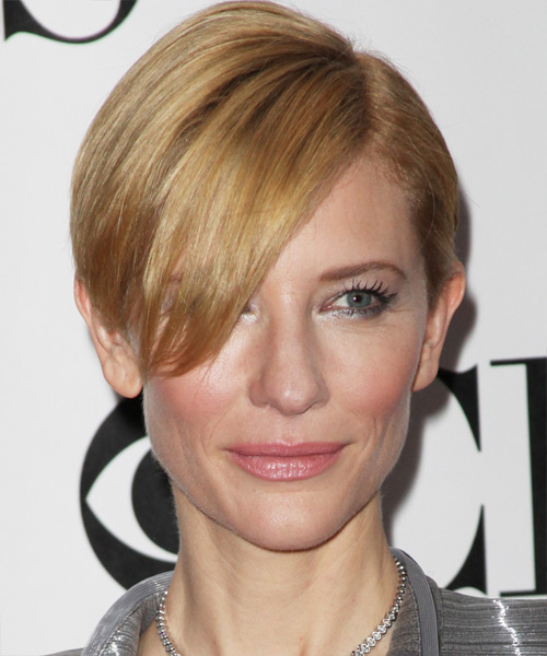 Cate Blanchett Short Straight Hairstyle