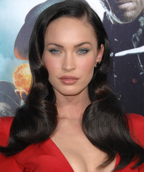 Megan Fox Long Wavy Formal Hairstyle
