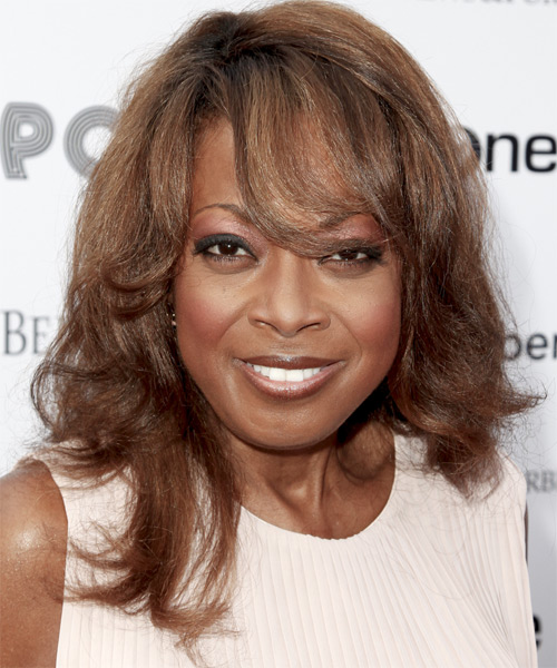 Star Jones Long Wavy Hairstyle