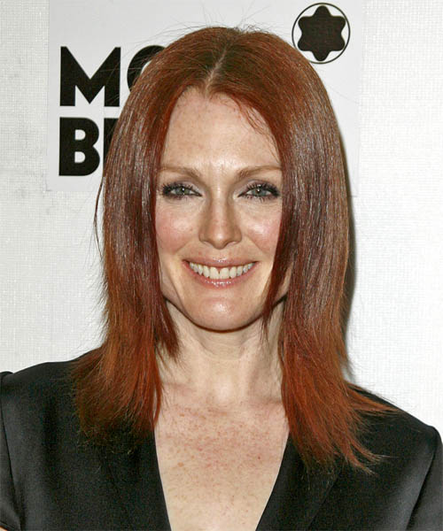 Julianne Moore - Casual Medium Straight Hairstyle