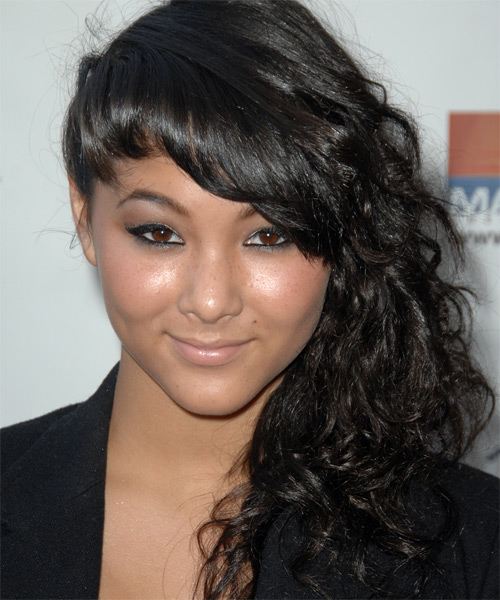 Fivel Stewart Curly Formal Half Up Hairstyle