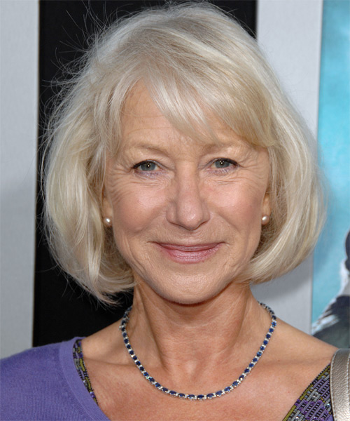Helen Mirren Medium Straight Hairstyle