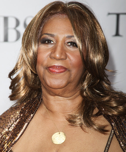 Aretha Franklin Long Wavy Hairstyle