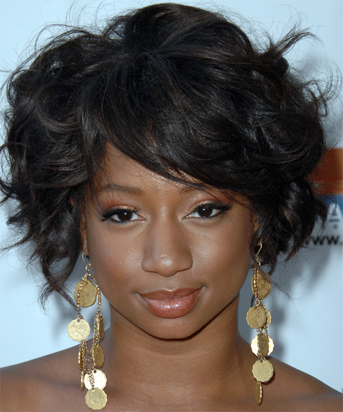 Monique Coleman Long Curly Formal Updo Hairstyle