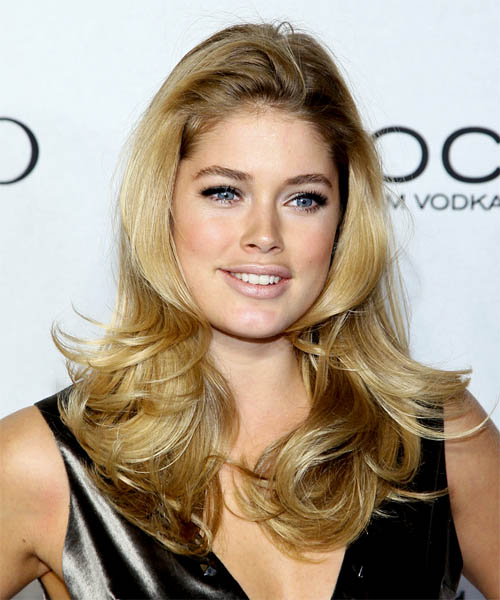 Doutzen Kroes Long Wavy Hairstyle - Medium Blonde (Golden)