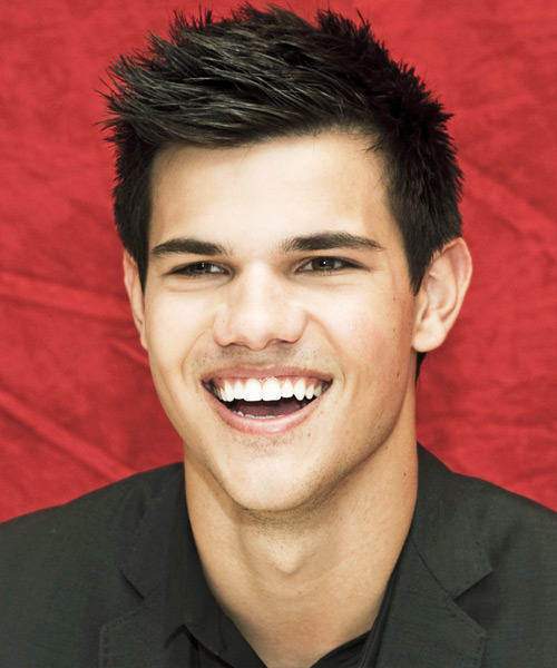 Taylor Lautner Short Straight Hairstyle - Dark Brunette
