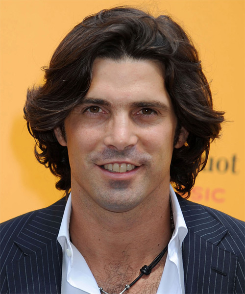 Nacho Figueras Medium Wavy Casual Hairstyle