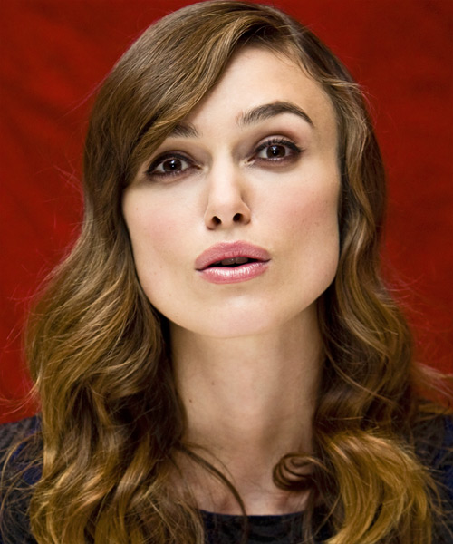 Keira Knightley  Long Wavy Formal Hairstyle