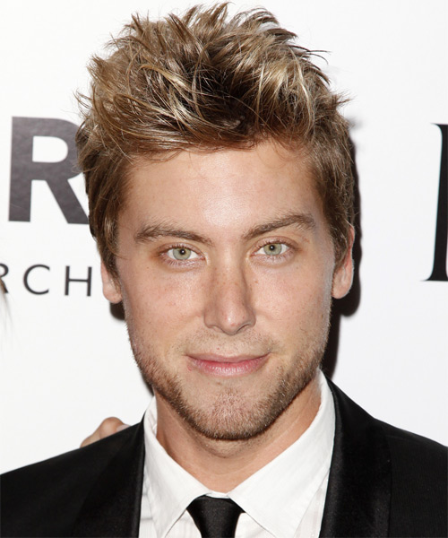 Lance Bass Short Straight Casual Hairstyle