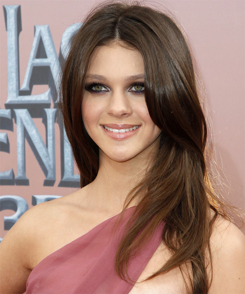 Nicola Peltz Long Straight Hairstyle
