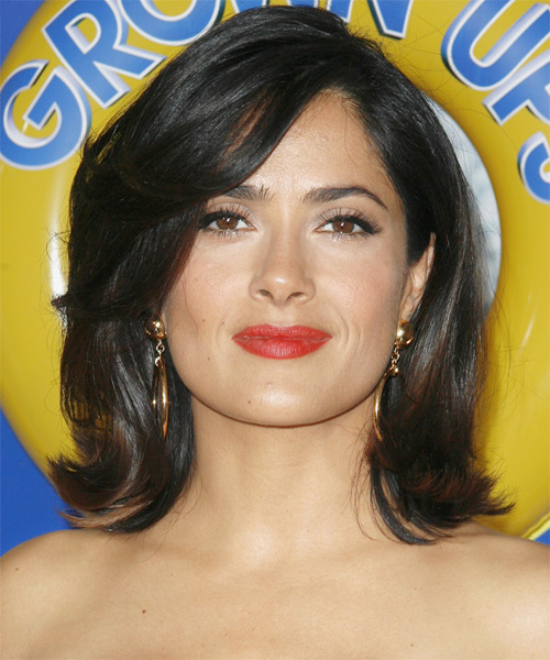 Salma Hayek Medium Straight Hairstyle