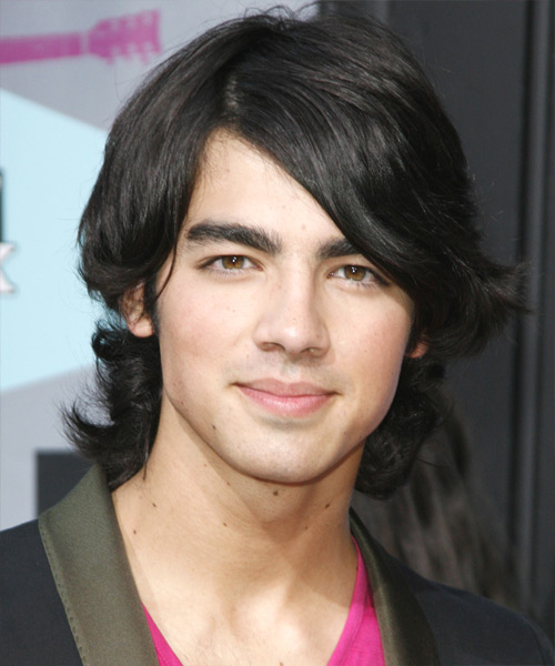 Joe Jonas Medium Wavy Casual Hairstyle