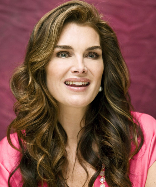 Brooke Shields - Formal Long Wavy Hairstyle