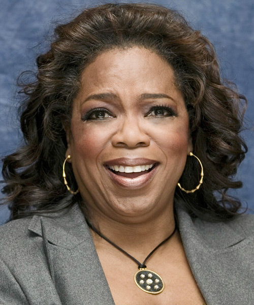 Oprah Winfrey Medium Curly Hairstyle
