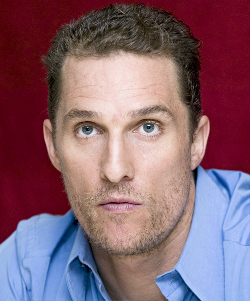 Matthew McConaughey - Casual Short Wavy Hairstyle